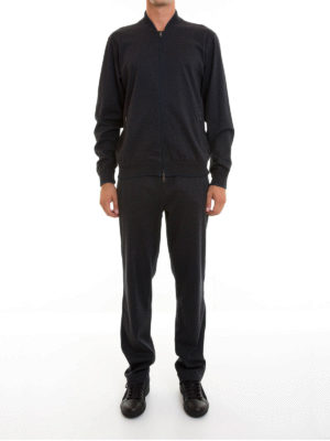 Brioni: jumpsuits online - Stretch cotton jersey jumpsuit