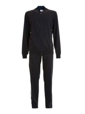 Brioni: jumpsuits - Stretch cotton jersey jumpsuit