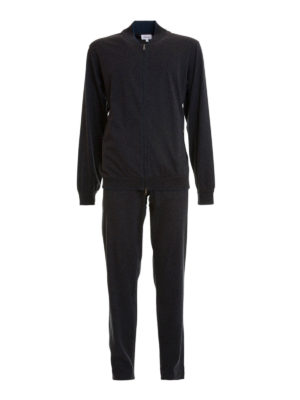 Brioni: jumpsuits - Stretch cotton jersey jumpsuit