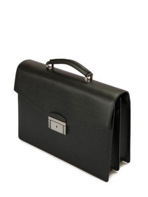 Brioni: laptop bags & briefcases online - Abraham saffiano leather briefcase