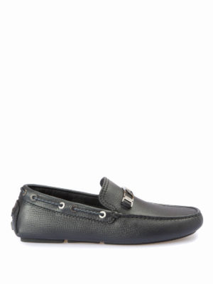 Brioni: Loafers & Slippers - Hammered leather loafers