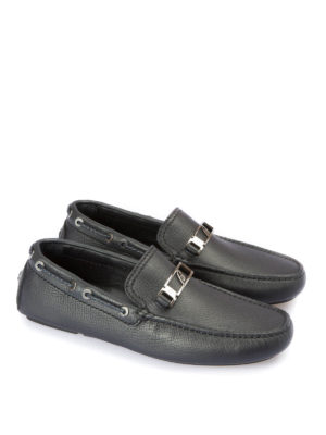 Brioni: Loafers & Slippers online - Hammered leather loafers
