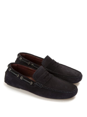 Brioni: Loafers & Slippers online - Suede car shoes