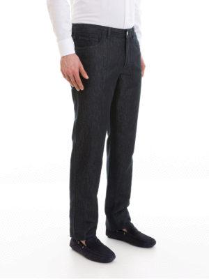 a sigaretta - Jeans in misto seta e cotone