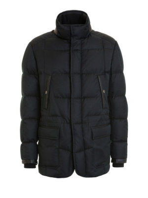 Brioni: padded jackets - Multi pocket quilted padded jacket