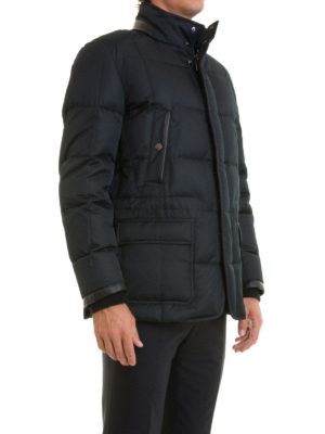 Brioni: padded jackets online - Multi pocket quilted padded jacket