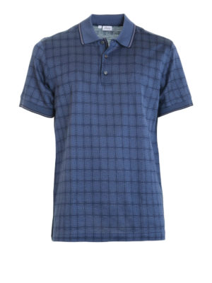 Brioni: polo shirts - Check cotton polo