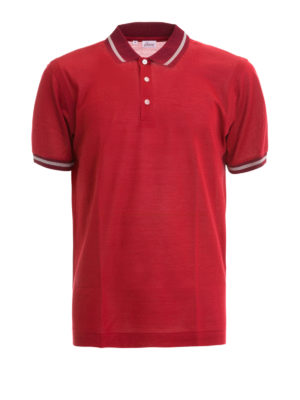 Brioni: polo shirts - Cotton and silk blend polo