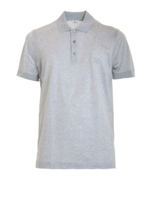Brioni: polo shirts - Cotton polo shirt