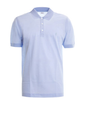Brioni: polo shirts - Embroidered logo pique polo