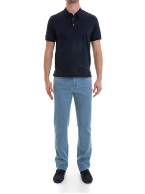 Brioni: polo shirts online - Cotton pique polo shirt