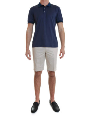 Brioni: polo shirts online - Polo with contrasting stripes