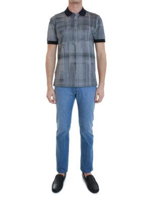 Brioni: polo shirts online - Printed cotton polo