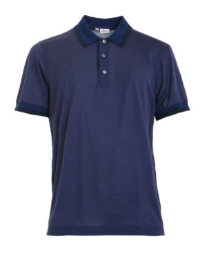 Brioni: polo shirts - Polo with contrasting stripes