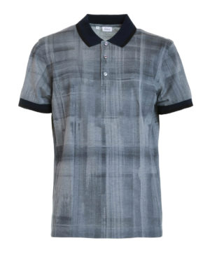 Brioni: polo shirts - Printed cotton polo