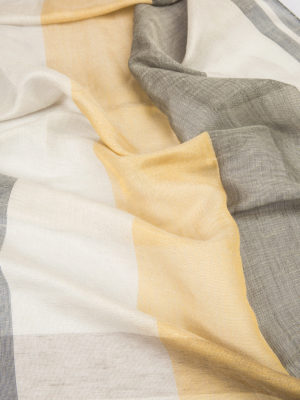 Brioni: scarves online - Two-tone check scarf