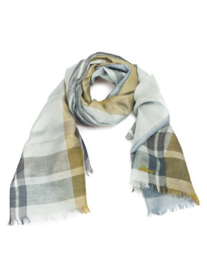 Brioni: scarves - Two-tone check scarf