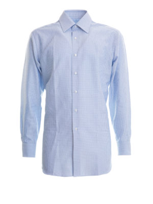 Brioni: shirts - Cotton jacquard shirt