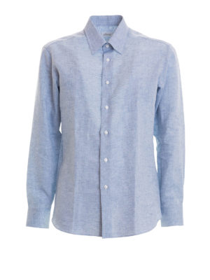 Brioni: shirts - Long sleeved linen shirt