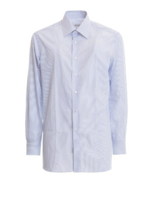 Brioni: shirts - Micro stripes formal cotton shirt