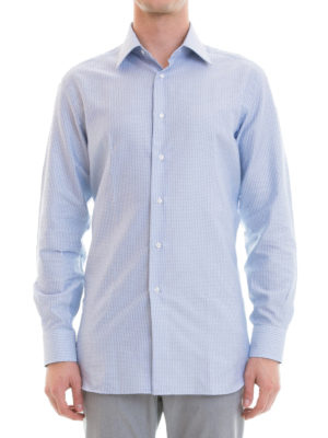 Brioni: shirts online - Cotton jacquard shirt