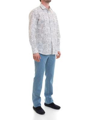 Brioni: shirts online - Paisley print classic cotton shirt