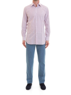 Brioni: shirts online - Striped cotton shirt