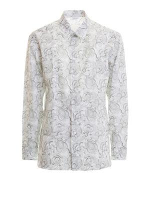 Brioni: shirts - Paisley print classic cotton shirt