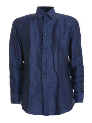 Brioni: shirts - Prince-of-Wales print shirt