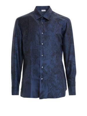 BRIONI: camicie - Camicia in seta stampata