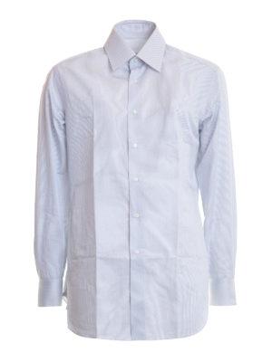 Brioni: shirts - Striped cotton classic shirt