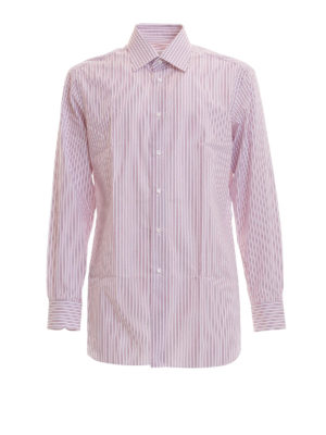 Brioni: shirts - Striped cotton shirt