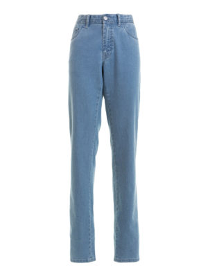 Brioni: straight leg jeans - Chamonix five pocket flared jeans