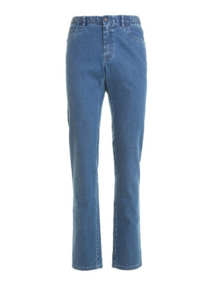 Brioni: straight leg jeans - Livigno cotton denim jeans