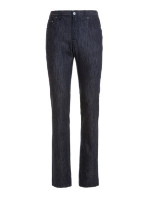 Brioni: straight leg jeans - Livigno cotton silk tailored jeans