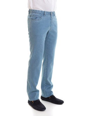 Brioni: straight leg jeans online - Chamonix five pocket flared jeans