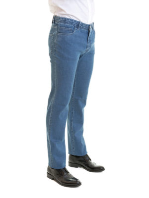 Brioni: straight leg jeans online - Livigno cotton denim jeans