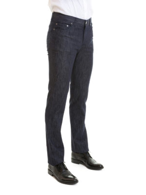 Brioni: straight leg jeans online - Livigno cotton silk tailored jeans