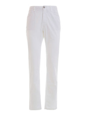 Brioni: straight leg jeans - Stretch cotton five pocket jeans