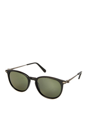 Brioni: sunglasses - Black acetate sunglasses