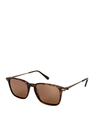 Brioni: sunglasses - Tortoise square sunglasses