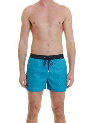 Brioni: Swim shorts & swimming trunks online - Logo swimming trunks