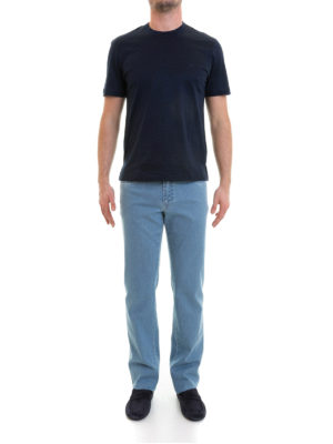 Brioni: t-shirts online - Crew neck cotton T-shirt