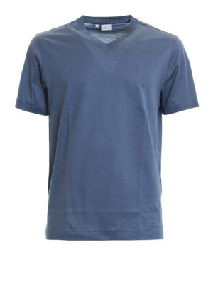 Brioni: t-shirts - V-neckline cotton T-shirt