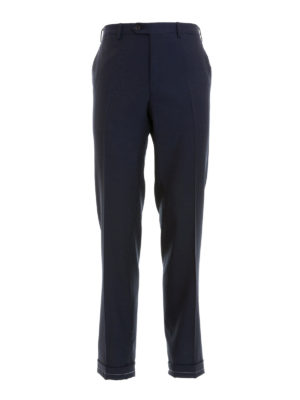 Brioni: Tailored & Formal trousers - Blue wool tailored trousers