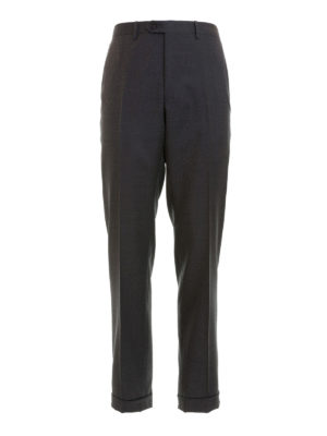 Brioni: Tailored & Formal trousers - Dark grey wool tailored trousers