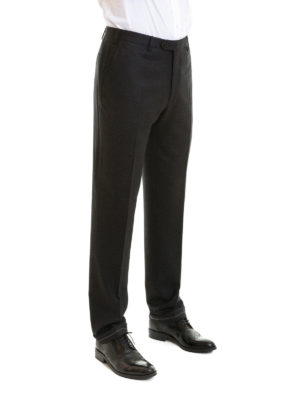 Brioni: Tailored & Formal trousers online - Tigullio black tailored trousers