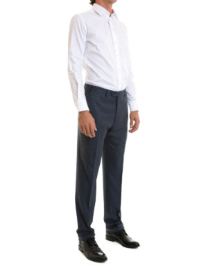 Brioni: Tailored & Formal trousers online - Tigullio wool tailored trousers