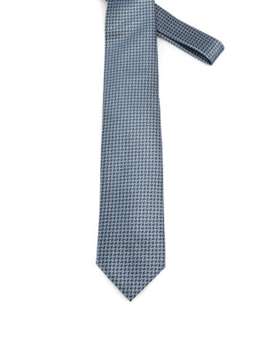 Brioni: ties & bow ties - Geometric pattern silk tie