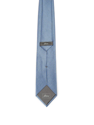 Brioni: ties & bow ties online - Optical geometric pattern silk tie